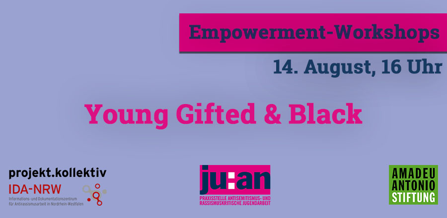 Young Gifted and Black 14.08. Veranstaltungen Header Hompage
