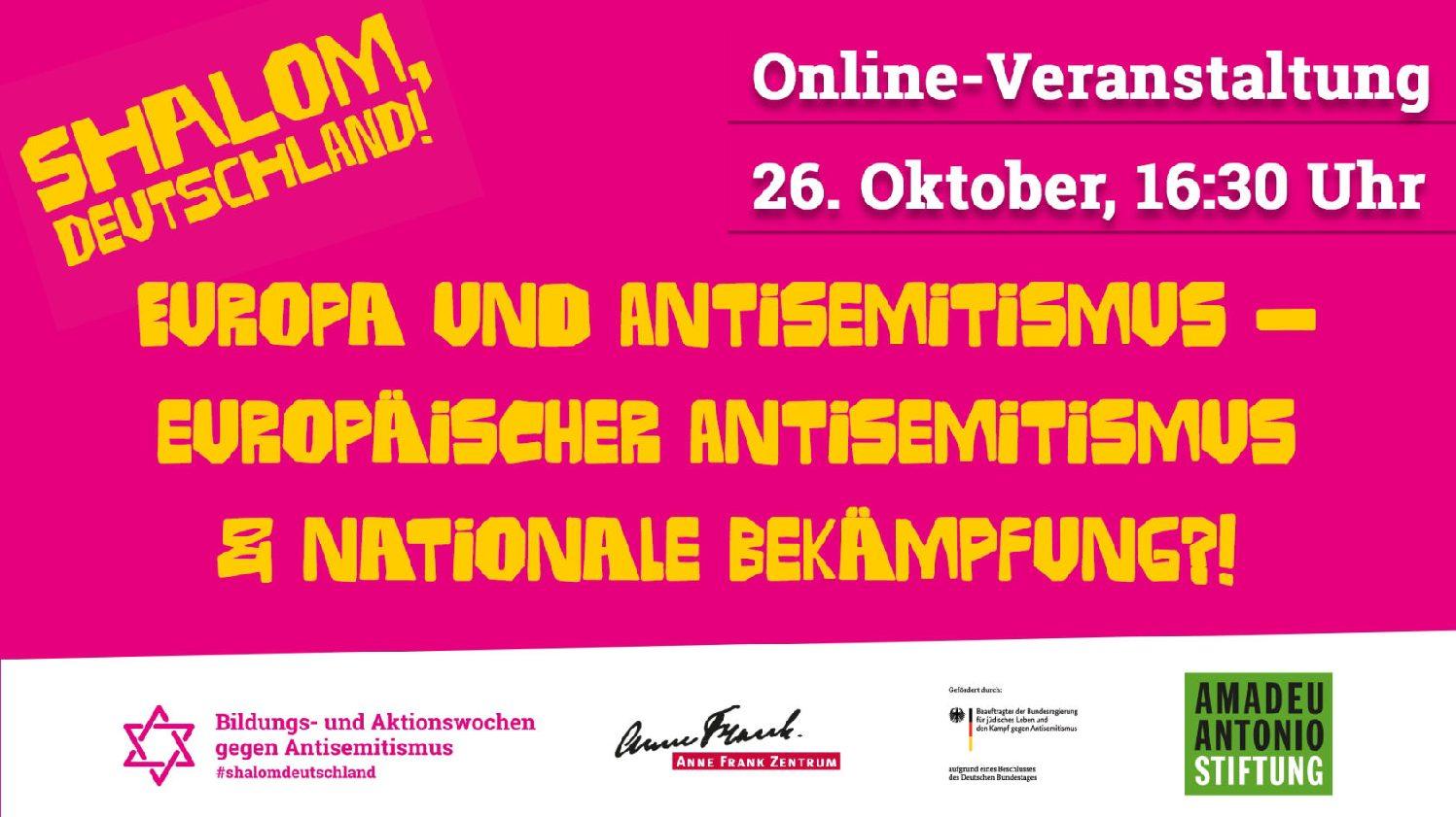 Europa und Antisemitismus – europäischer Antisemitismus & nationale Bekämpfung HP
